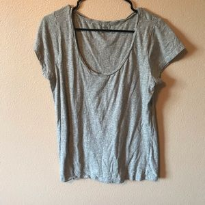 GAP - classic scoop neck grey Tee